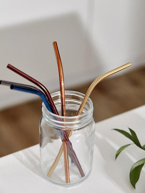 Ống Hút Kim Loại Uốn Cong (Nhiều Màu) / Metal Straw Bend (Muti Colors)