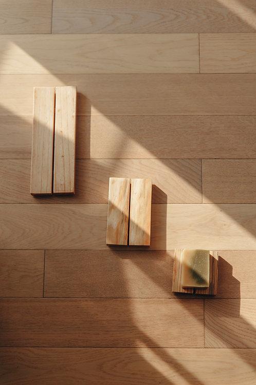 Khay Xà Phòng Gỗ / Pine Wood Soap Tray - S | M | L