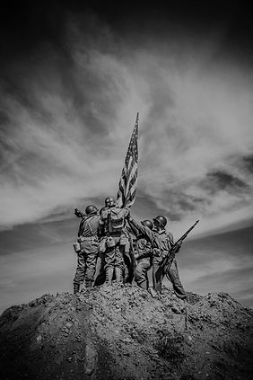 Heroes holding the American Flag