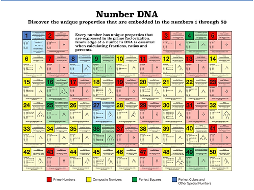 The Number DNA™ Poster