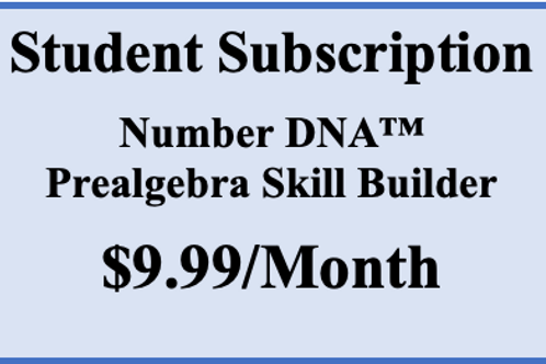Number DNA PreAlgebra Skill Builder -  Monthly Subscription