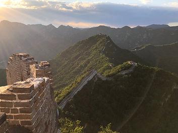 Muraille de Chine Jiankou coucher de soleil