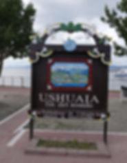 Panneau bienvenue Ushuaia