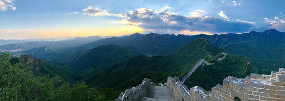 Muraille de Chine portion Jiankou coucher de soleil