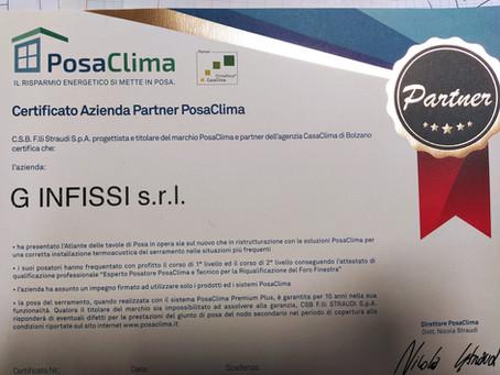 G Infissi SRL è partner PosaClima