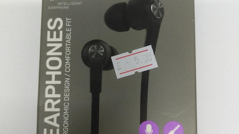 Earphones x6 3.5mm jack black