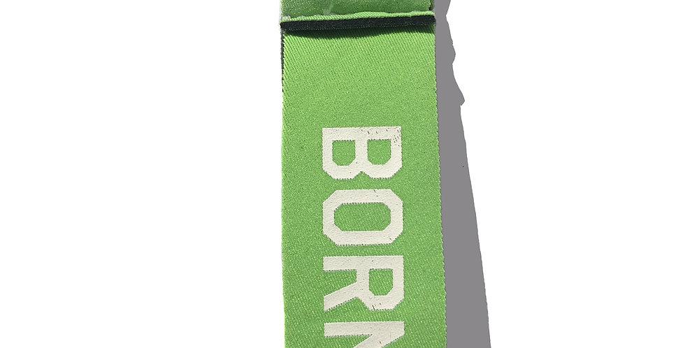 Petit porte-clef BORN TO SURF vert