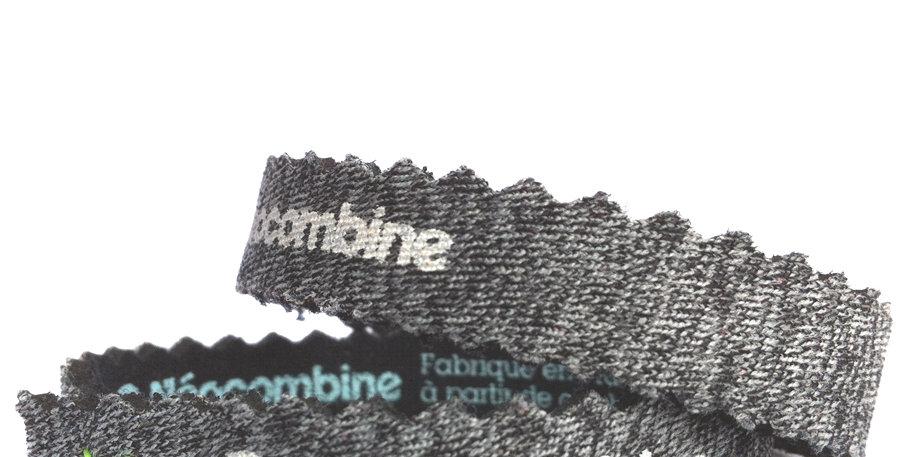 Bracelet,bijou,surf,combinaison recyclée,fabrication,artisanale,design,Neocombine,sérigraphie,cadeau,classique,gris chiné