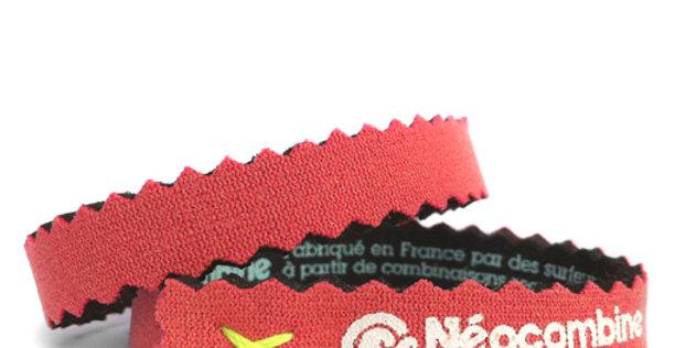 Bracelet,bijou,surf,combinaison recyclée,fabrication,artisanale,design,Neocombine,sérigraphie,cadeau,classique,rouge
