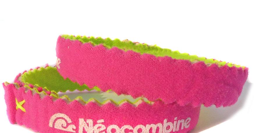 Bracelet,bijou,surf,combinaison recyclée,fabrication,artisanale,design,Neocombine,sérigraphie,cadeau,classique,fushia