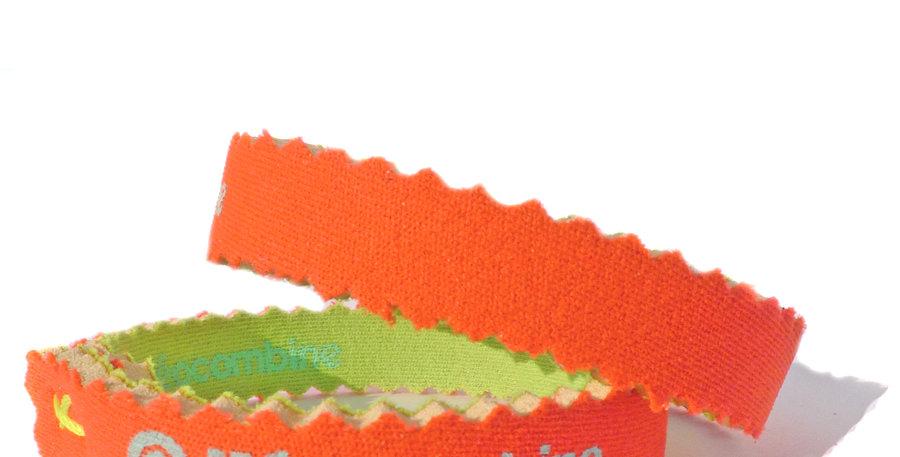 Bracelet,bijou,surf,combinaison recyclée,fabrication,artisanale,design,Neocombine,sérigraphie,cadeau,classique,fluo orange