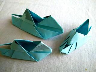 一個手印約定  三隻藍色纸船