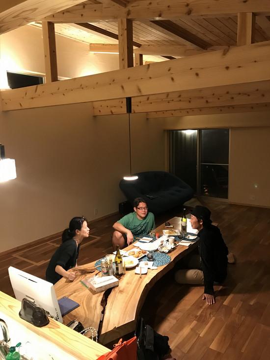 石垣の別荘(初めて夕食会)