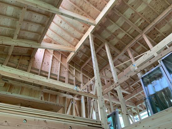 東長崎の家 屋根工事が始まりました。