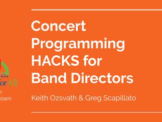 Concert Programming Hacks Presentation