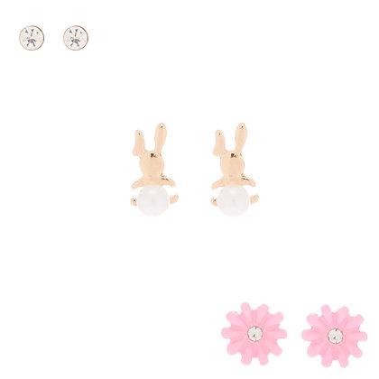 Aretes de conejo 3P (84222)