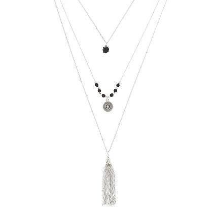Collar - borlas/piedras (77239)