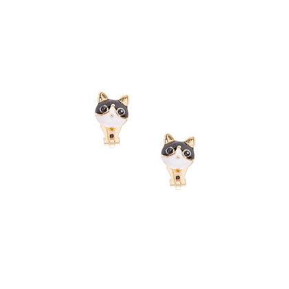 Aretes de clip - gato (54085)