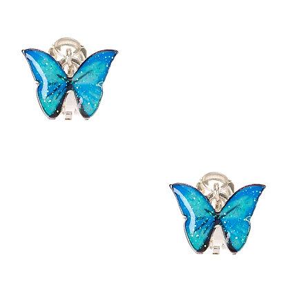 Aretes de clip - mariposa (08126)
