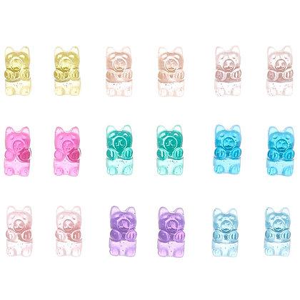 Aretes de osito de goma 9P (22226)