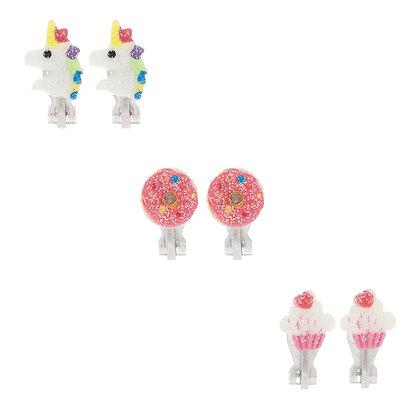 Aretes de clip - unicornio 3P (12426)