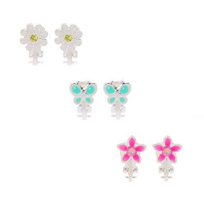 Aretes de clip - mariposa 3P (66711)