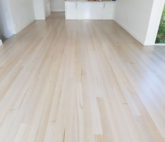 hardwood sanding, light grey stain and w