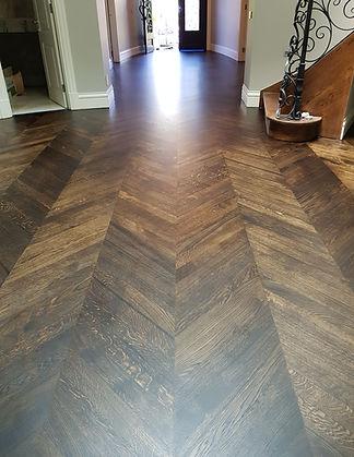 European oak sanding,black japan stain a