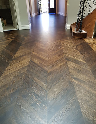 European oak sanding,black japan stain a