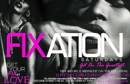Fixation Saturdays @ Love Nightclub (Flyer)