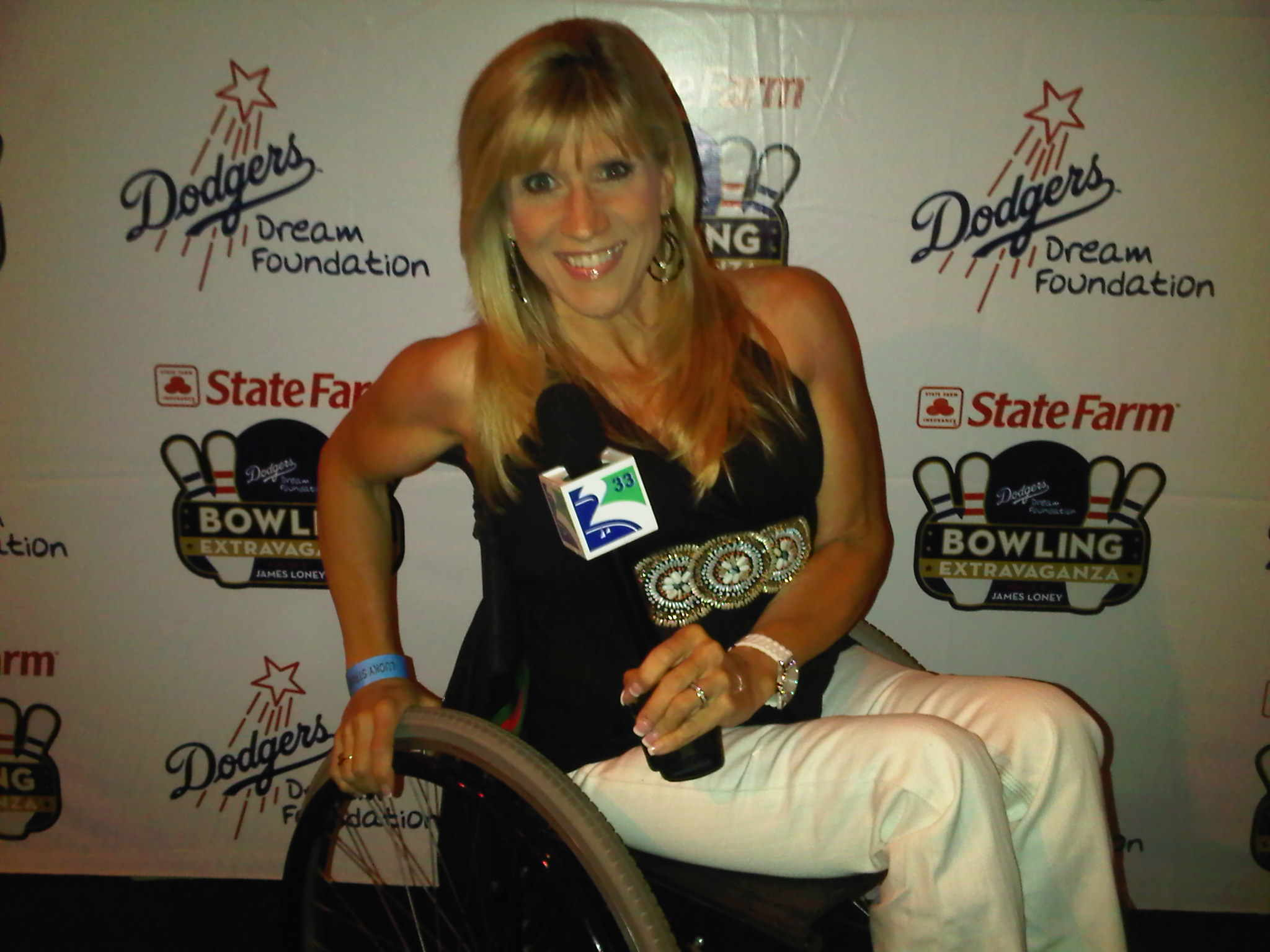 Maria at Dodgers Bowling Event