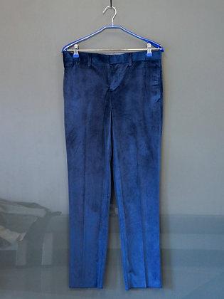 天鵝絨寶藍色九分褲