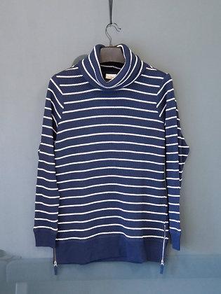 藍白條紋樽領長袖上衣