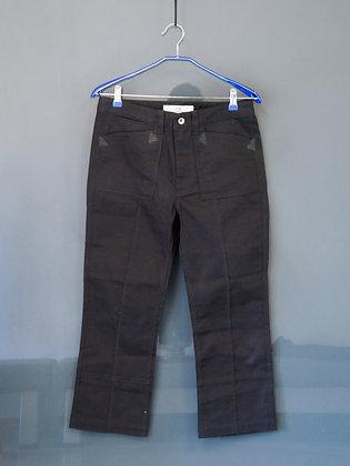 直筒顯瘦黑色長褲