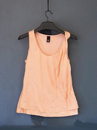 珊瑚橙扭紋背心