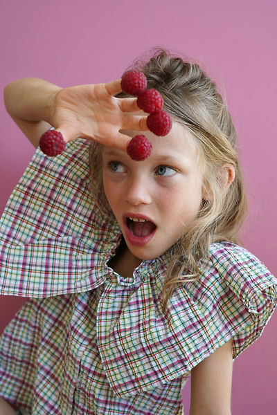Les fruits : direction artistique et photographie mode enfant portrait