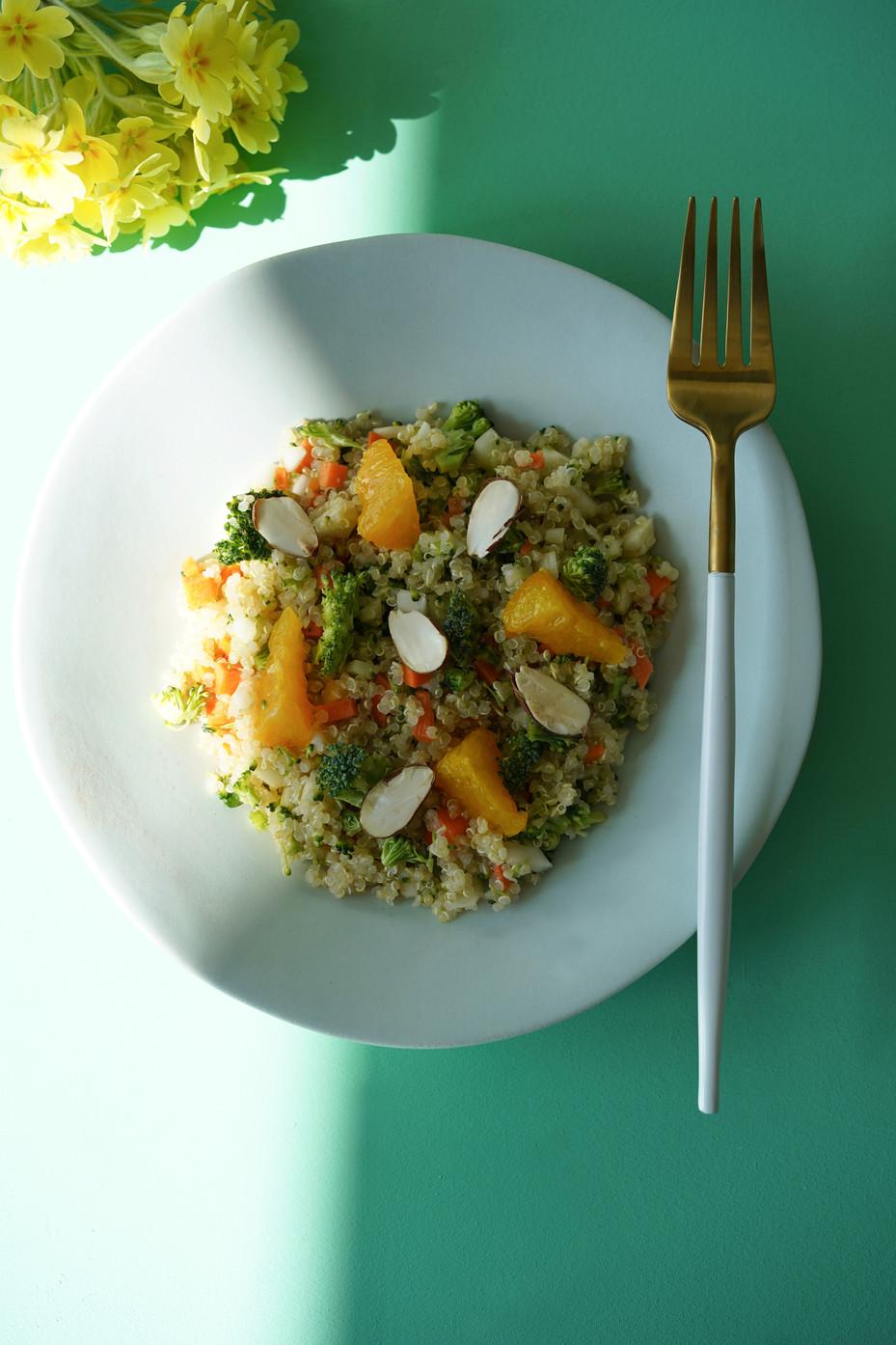 Salade de quinoa, fenouil et orange