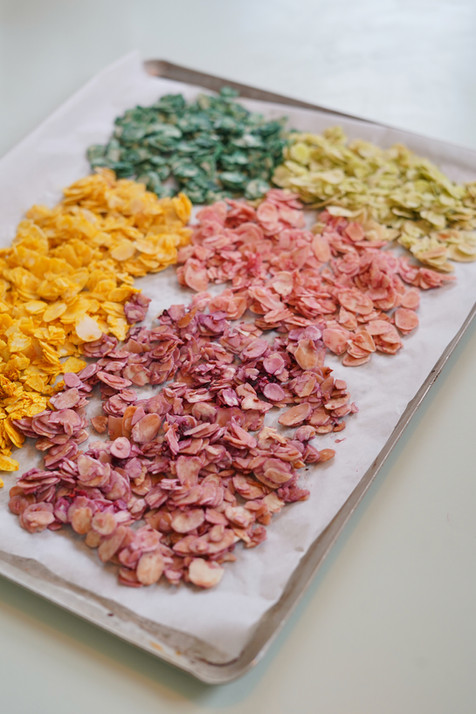 Jolies graines colorées