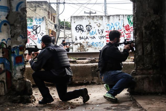 Civil police makes an operation in Jacarezinho Slum. Rio de Janeiro,