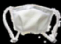 vue face masque reglable lavable antibac