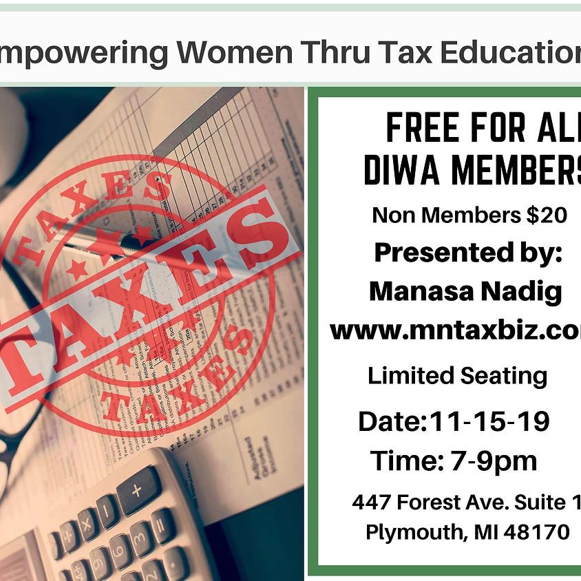 Empowering Women Thru Tax Education