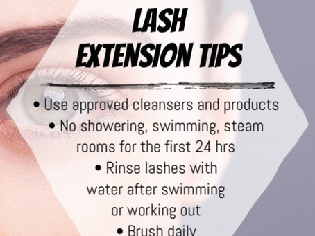 a Quick After Care Guide for Lash Extensions