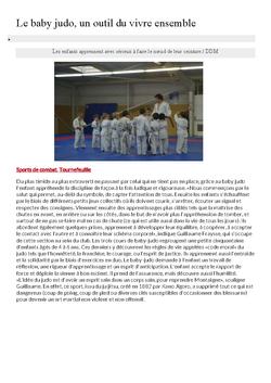 article baby judo
