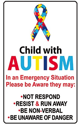 Child with Autism Decal Sticker
