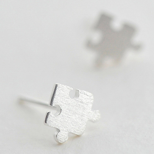 Silver Puzzled Earrings