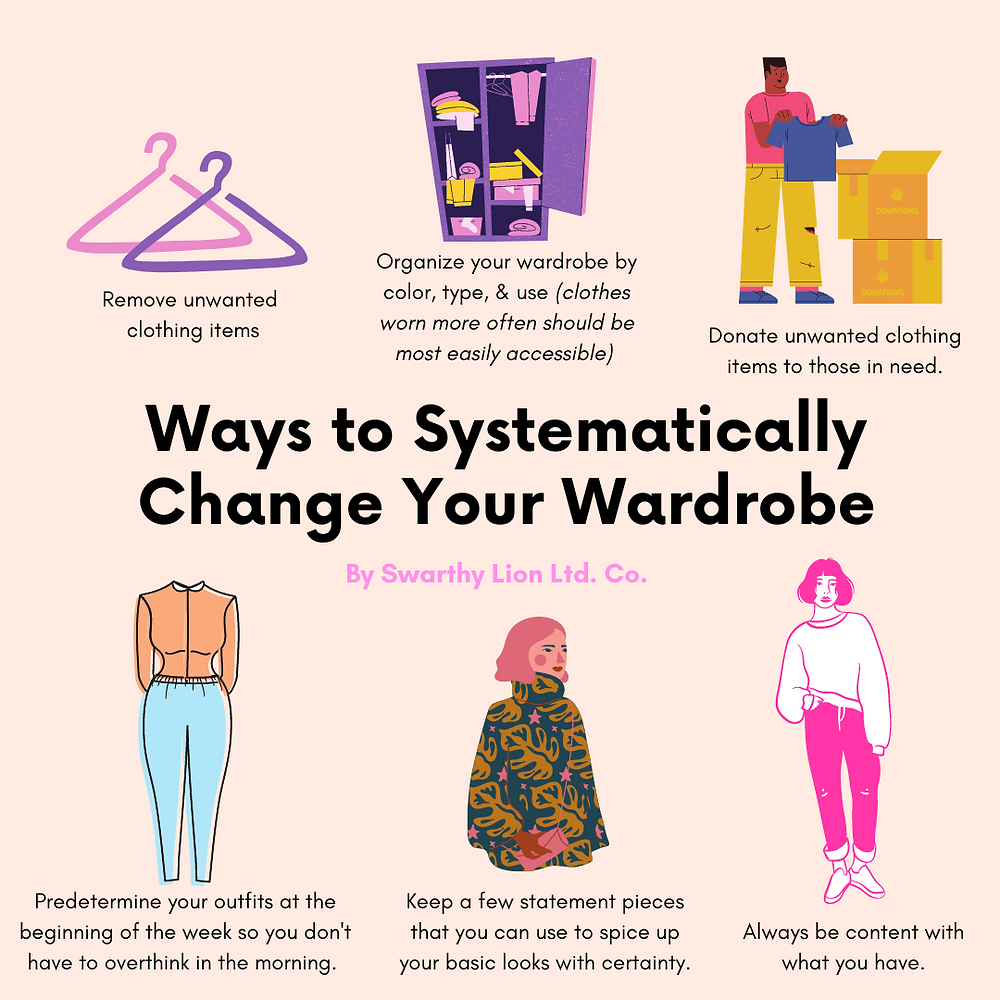 Swarthy Lion offers helpful tips on rearranging your wardrobe for longterm success!