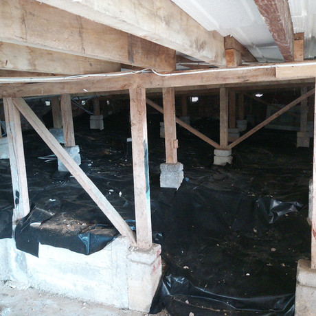 Under house moisture barrier