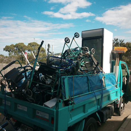 Scrap metal can be recycled