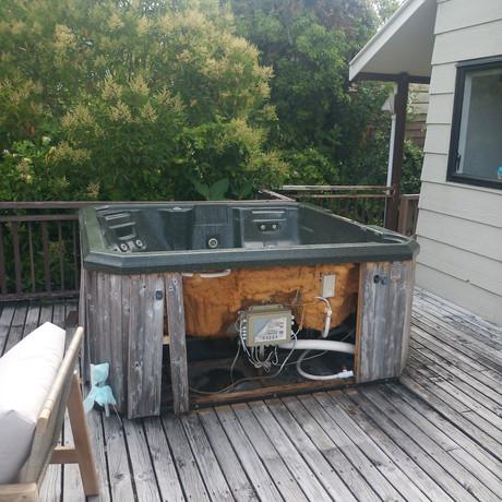 Old spa pool