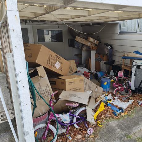 Overflowing carport